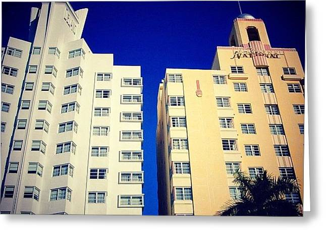 Delano And National Hotel's - Miami ( Greeting Card