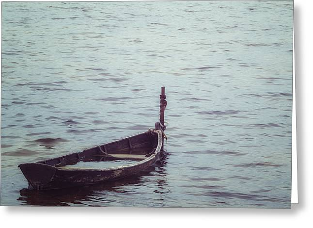 Delapidated Boat Greeting Card