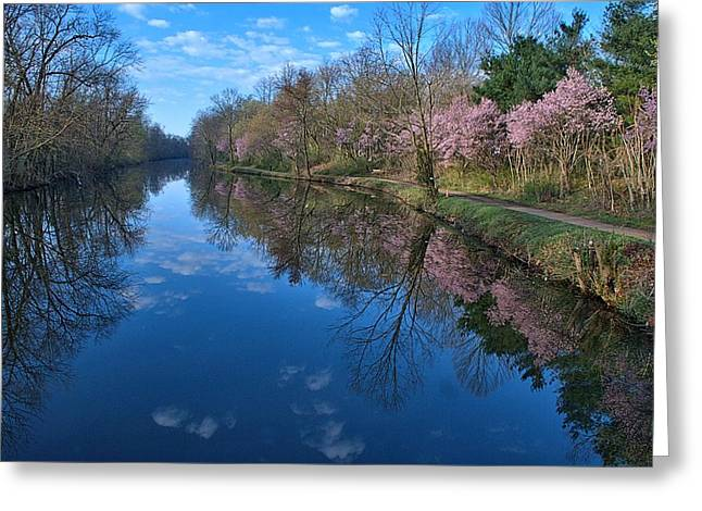 Delaware And Raritan Canal Turning Basim Greeting Card by Steven Richman