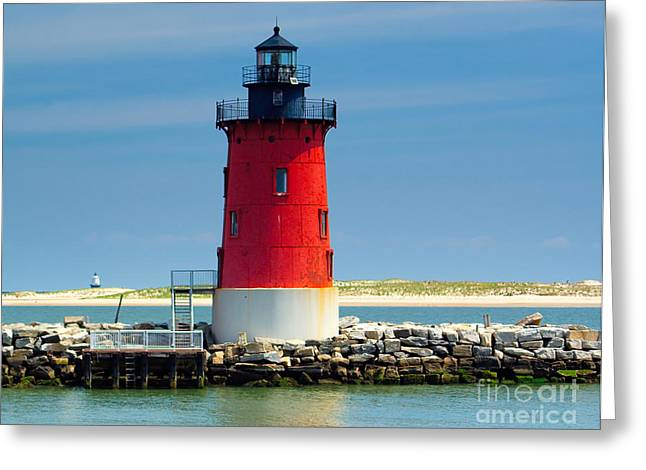 Delaware Breakwater Lighthouse Greeting Card