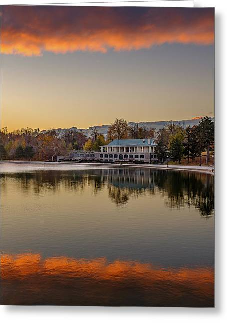 Delaware Park Marcy Casino Autumn Sunrise Greeting Card