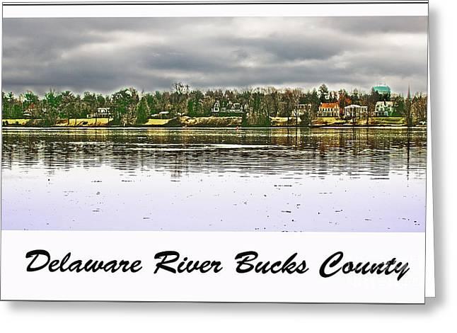 Delaware River Bucks County Greeting Card by Tom Gari Gallery-Three-Photography