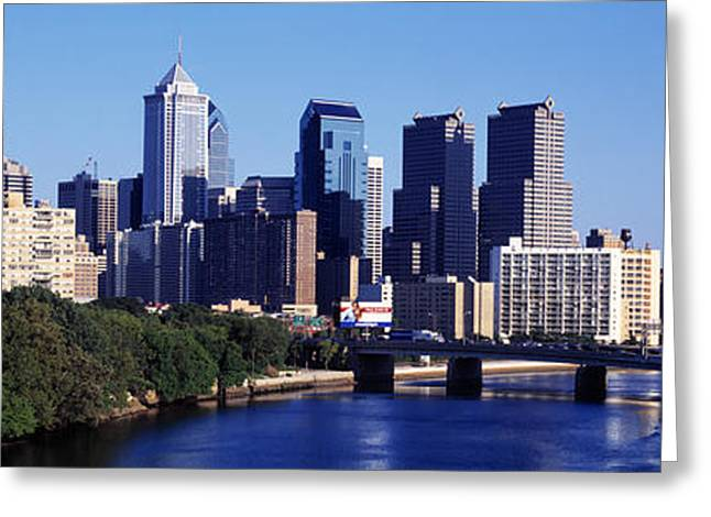 Delaware River, Philadelphia Greeting Card by Panoramic Images