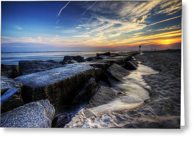 Delaware Sunrise At Indian River Inlet Greeting Card