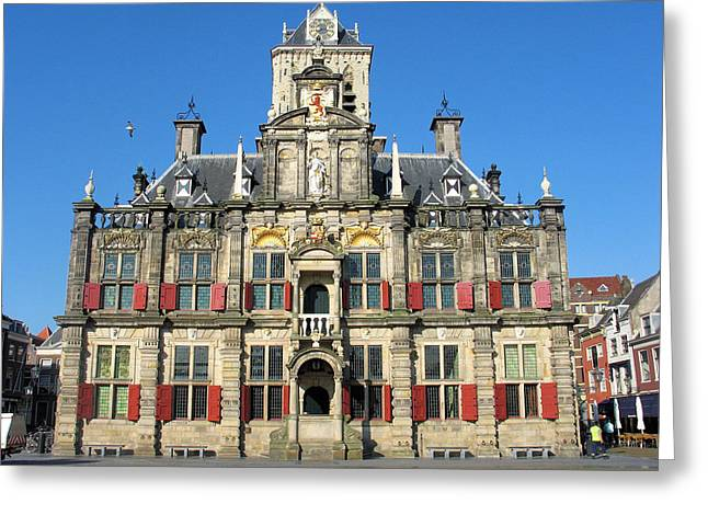 Delft City Hall Greeting Card