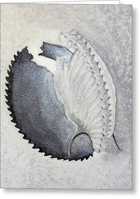 Greeting Card featuring the painting Delicata II Detail by Ashley Kujan