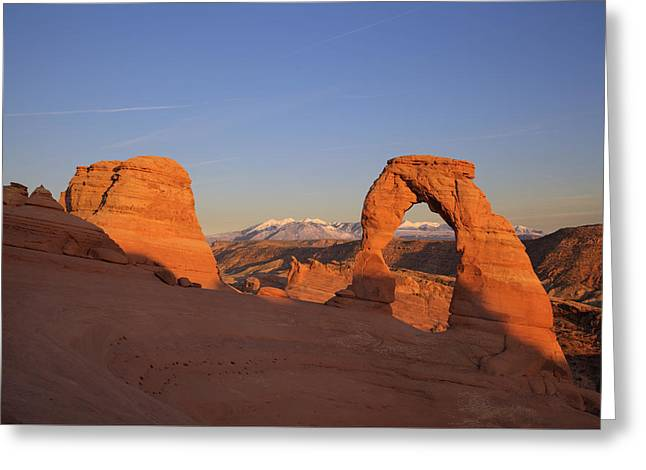 Delicate Arch At Sunset-2 Greeting Card by Alan Vance Ley