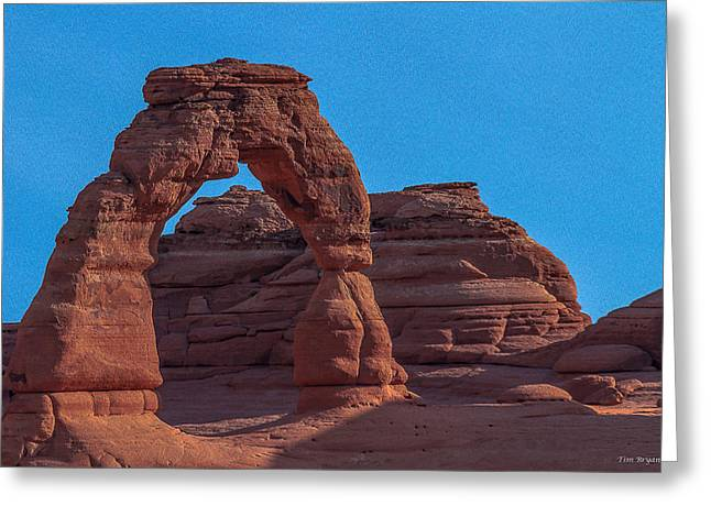 Delicate Arch Greeting Card by Tim Bryan