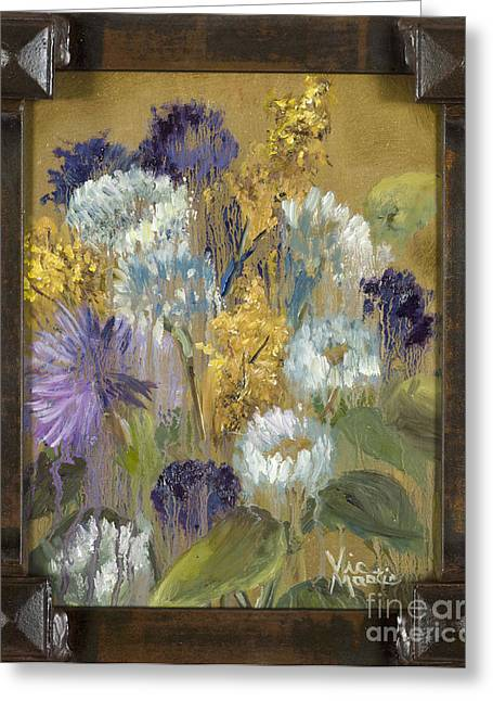Delicate Aroma I With Gold Leaf By Vic Mastis Greeting Card by Vic  Mastis
