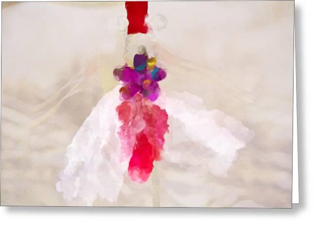 Delicate Dance - Impressionistic Dancer Greeting Card