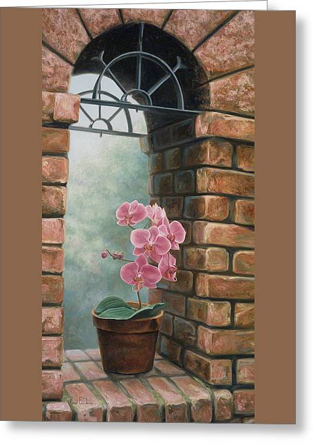 Delicate Orchids Greeting Card by Lucie Bilodeau