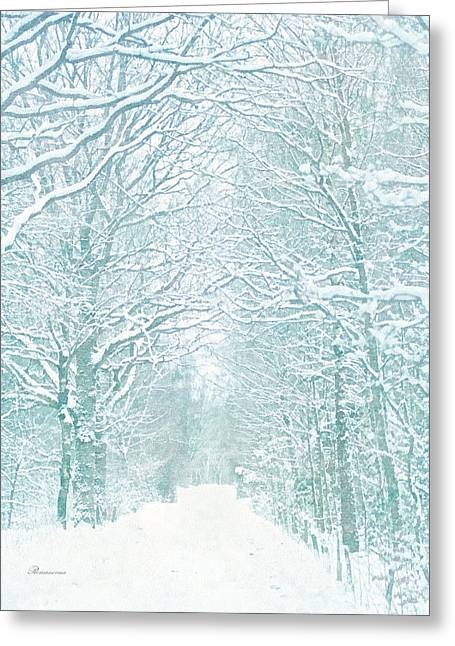 Delicate Winter Romance Greeting Card by Georgiana Romanovna