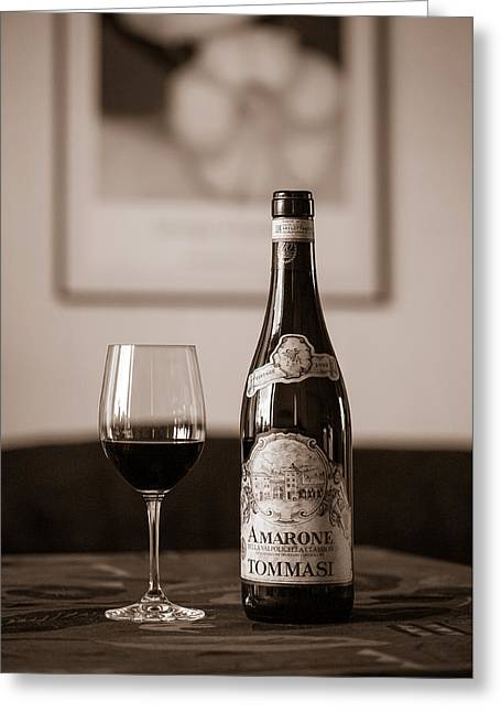 Delicious Amarone Greeting Card