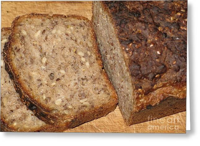 Delicious Lithuanian Multigrain Bread Greeting Card by Ausra Huntington nee Paulauskaite