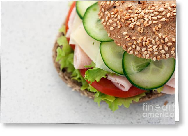Delicious Sandwich Greeting Card by Mythja  Photography