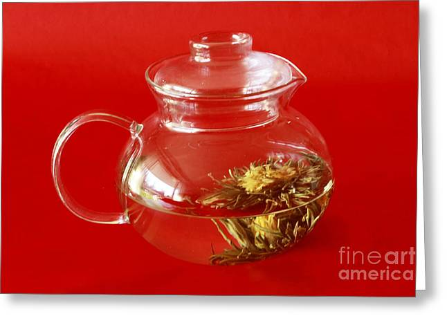 Delightful Blooming Tea Greeting Card by Inspired Nature Photography Fine Art Photography