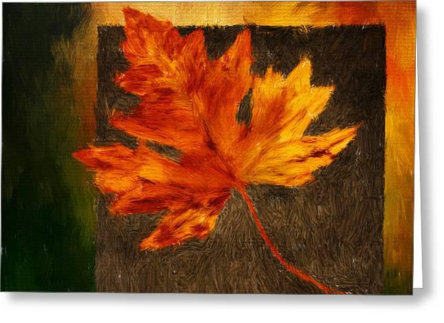 Delightful Fall Greeting Card by Lourry Legarde