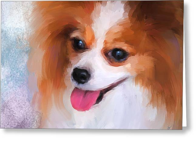 Delightful Papillon Greeting Card by Jai Johnson