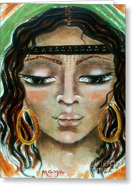 Delilah Greeting Card by Maya Telford
