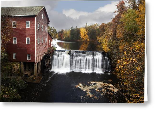 Dells Mill Fall Color Greeting Card