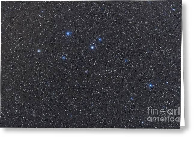 Delphinus Constellation On A Hazy Night Greeting Card by Alan Dyer