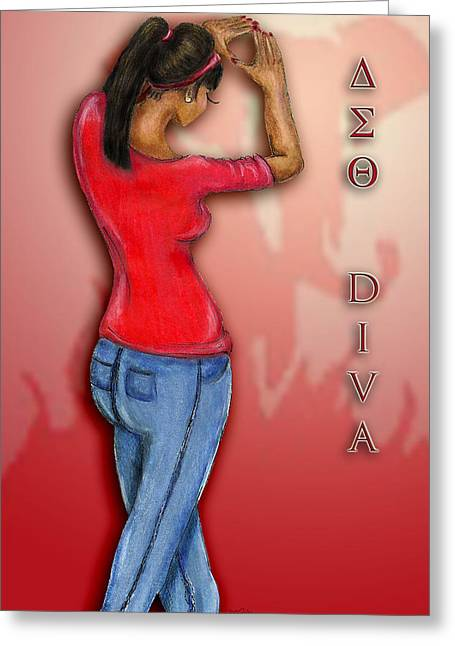 Delta Diva Greeting Card by BFly Designs