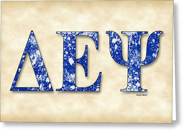 Delta Epsilon Psi - Parchment Greeting Card