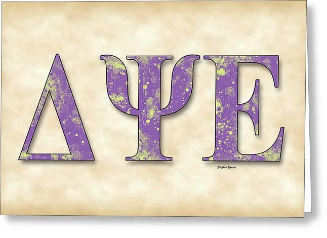 Delta Psi Epsilon - Parchment Greeting Card by Stephen Younts