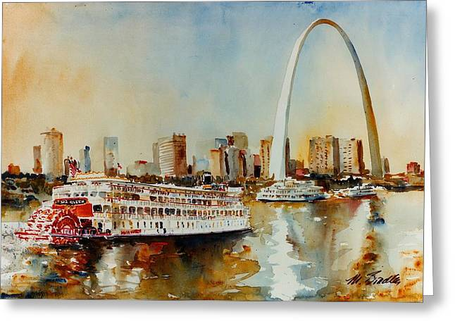 Delta Queen At St Louis Greeting Card