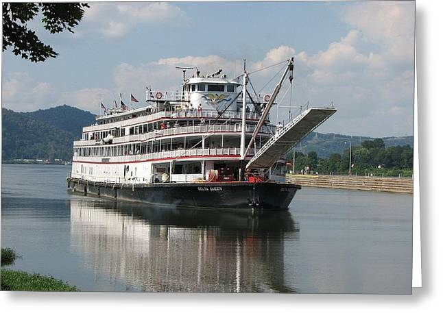 Delta Queen On Ohio River Greeting Card by Willy  Nelson