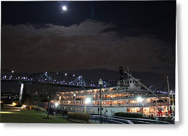 Delta Queen Under A Full Moon Greeting Card
