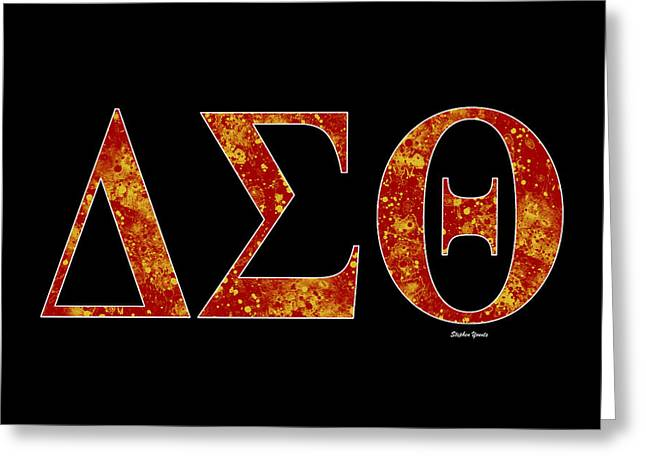 Delta Sigma Theta - Black Greeting Card by Stephen Younts