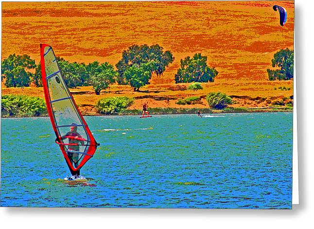 Delta Water Sports Greeting Card by Joseph Coulombe
