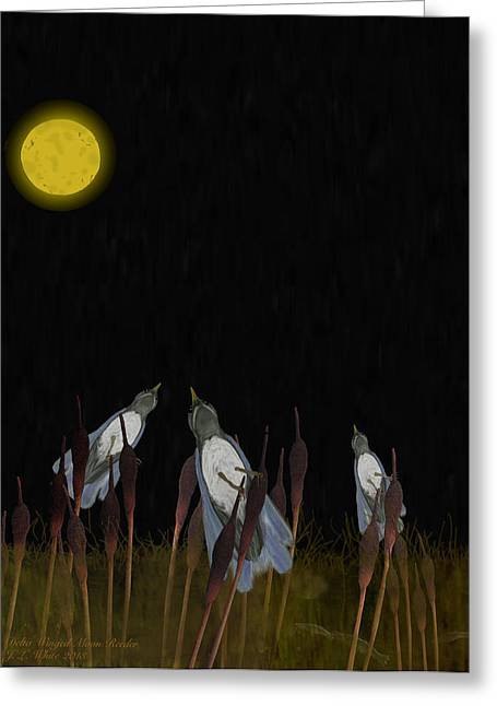 Delta Winged Moon Reeder Greeting Card