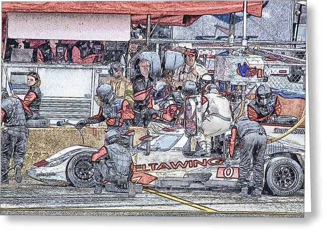 Deltawing  Legge  Meyrick Greeting Card