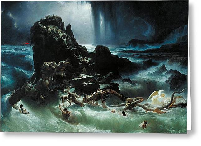Deluge Greeting Card by Francis Danby