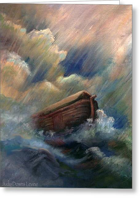 Deluge Greeting Card by Judy Downs