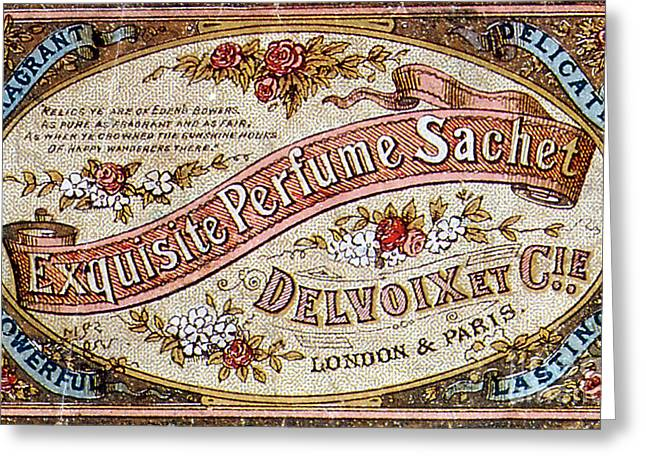Delvoix Exquisite Perfume Sachet, 1880 Greeting Card