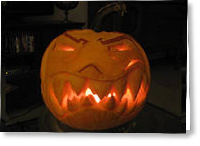 Demented Mister Ullman Pumpkin 2 Greeting Card