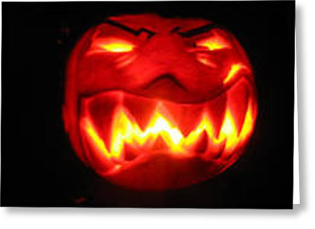 Demented Mister Ullman Pumpkin Greeting Card