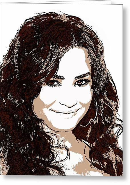 Demi Lovato 2 Greeting Card by John Novis