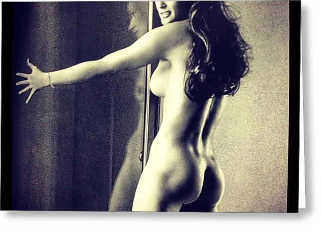 #demimoore #mariotestino #body #nudes Greeting Card by Brad Starks