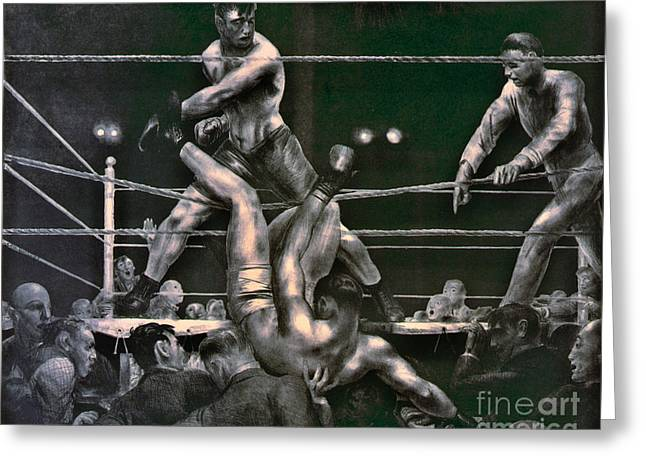 Dempsey And Firpo 1923 Greeting Card by Padre Art