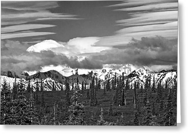 Denali In Clouds Greeting Card