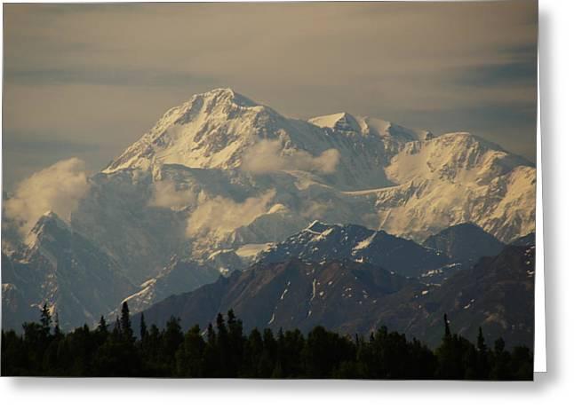 Denali  Or Mt Mckinley Greeting Card
