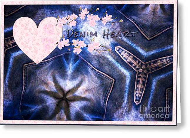 Denim Heart Greeting Card
