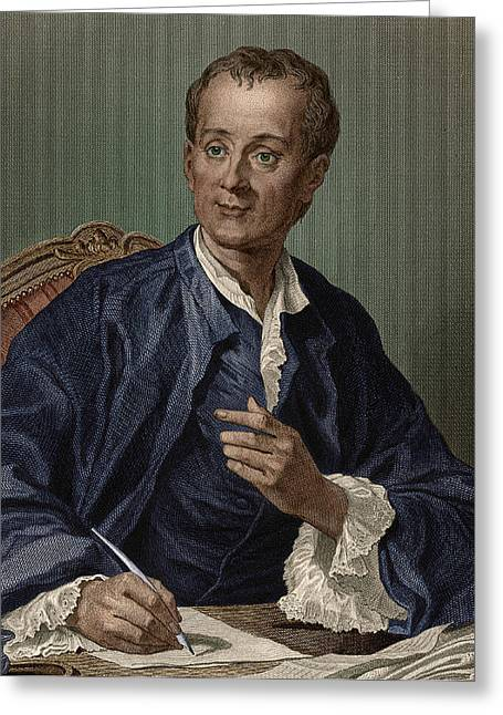 Denis Diderot, French Encyclopedist Greeting Card by Science Source