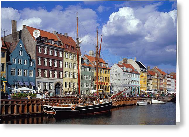 Denmark, Copenhagen, Nyhavn Greeting Card by Panoramic Images