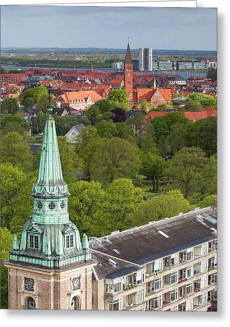 Denmark, Jutland, Aalborg, Elevated Greeting Card