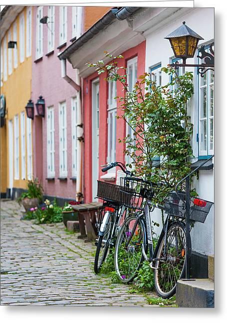 Denmark, Jutland, Aalborg, Houses Greeting Card